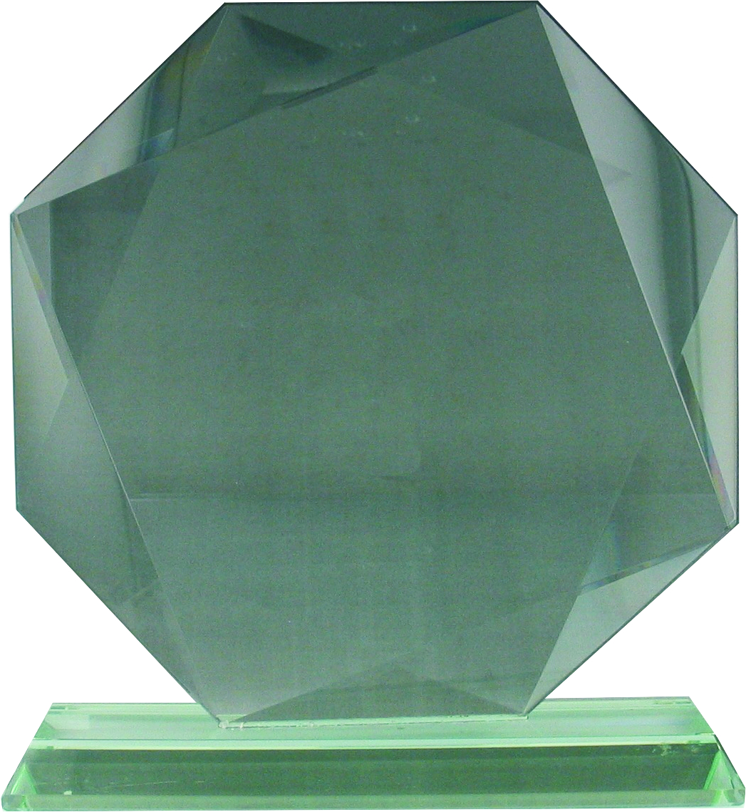 GL20 Jade Glass Hexagon Award Image