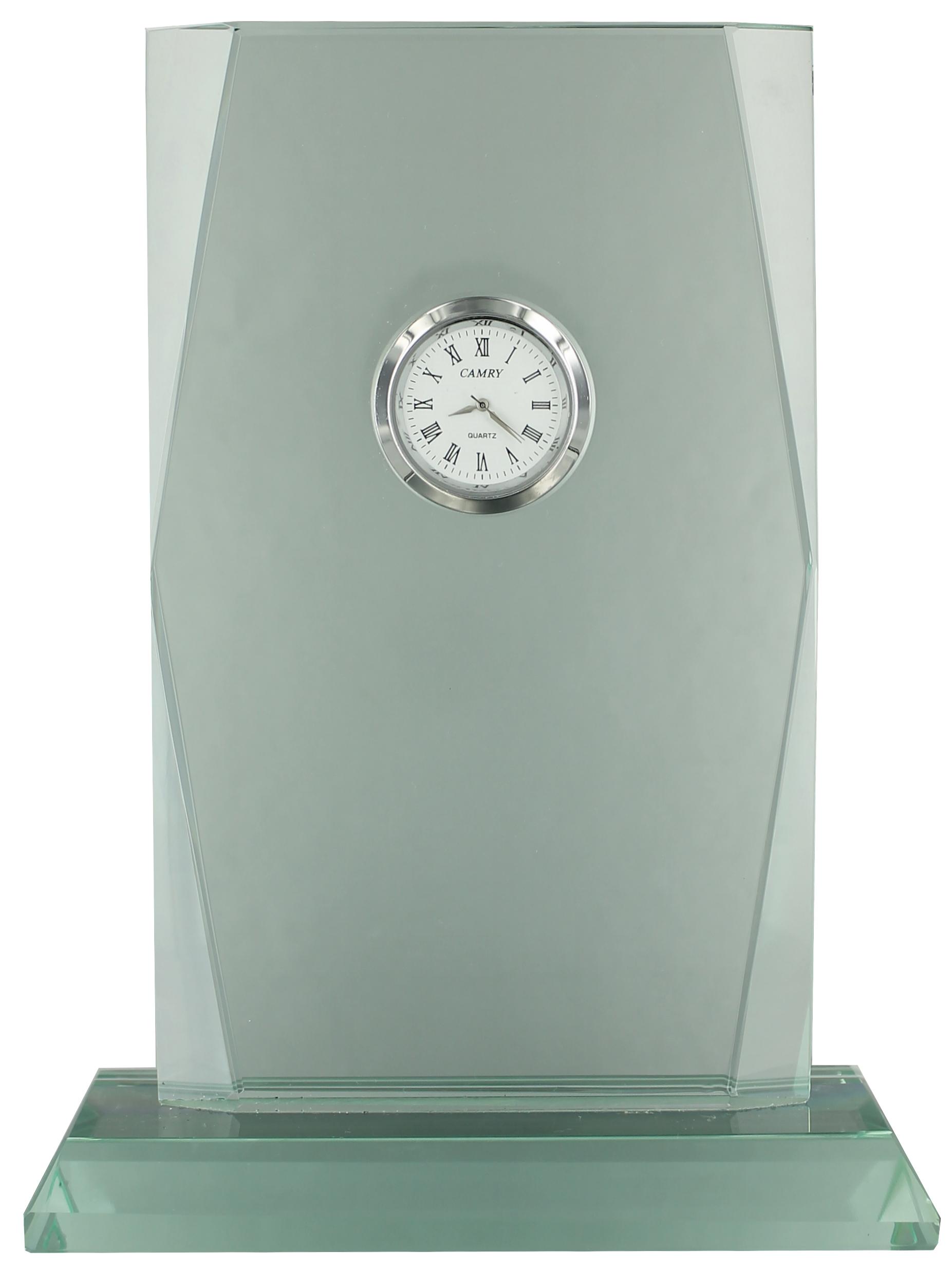 GL48 Jade Glass Clock Image