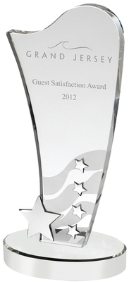 SG119 Crystal Award with Metal Stars Image