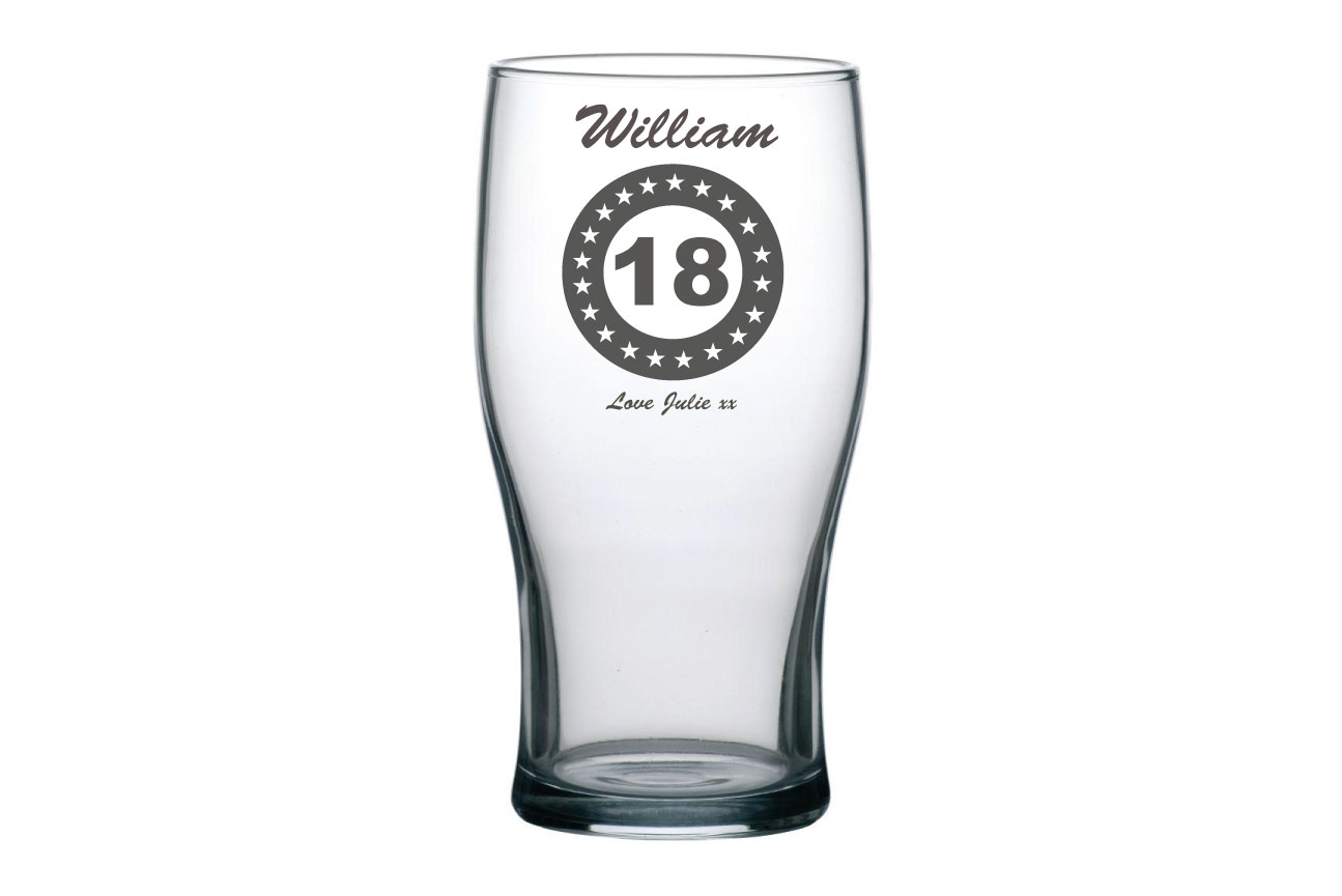 Birthday Pint Glass Image