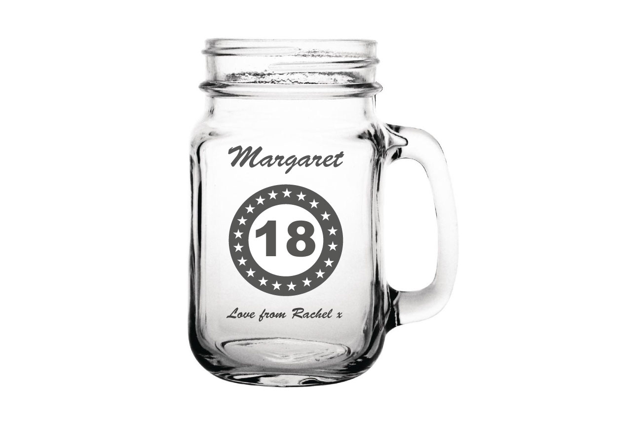 Birthday Jam Jar Cocktail Glass Image