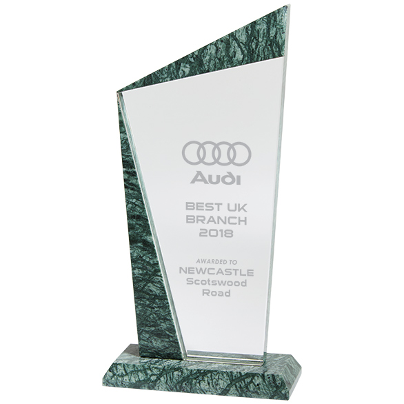 CR18045 Prestige Jade Glass & Marble Award Image