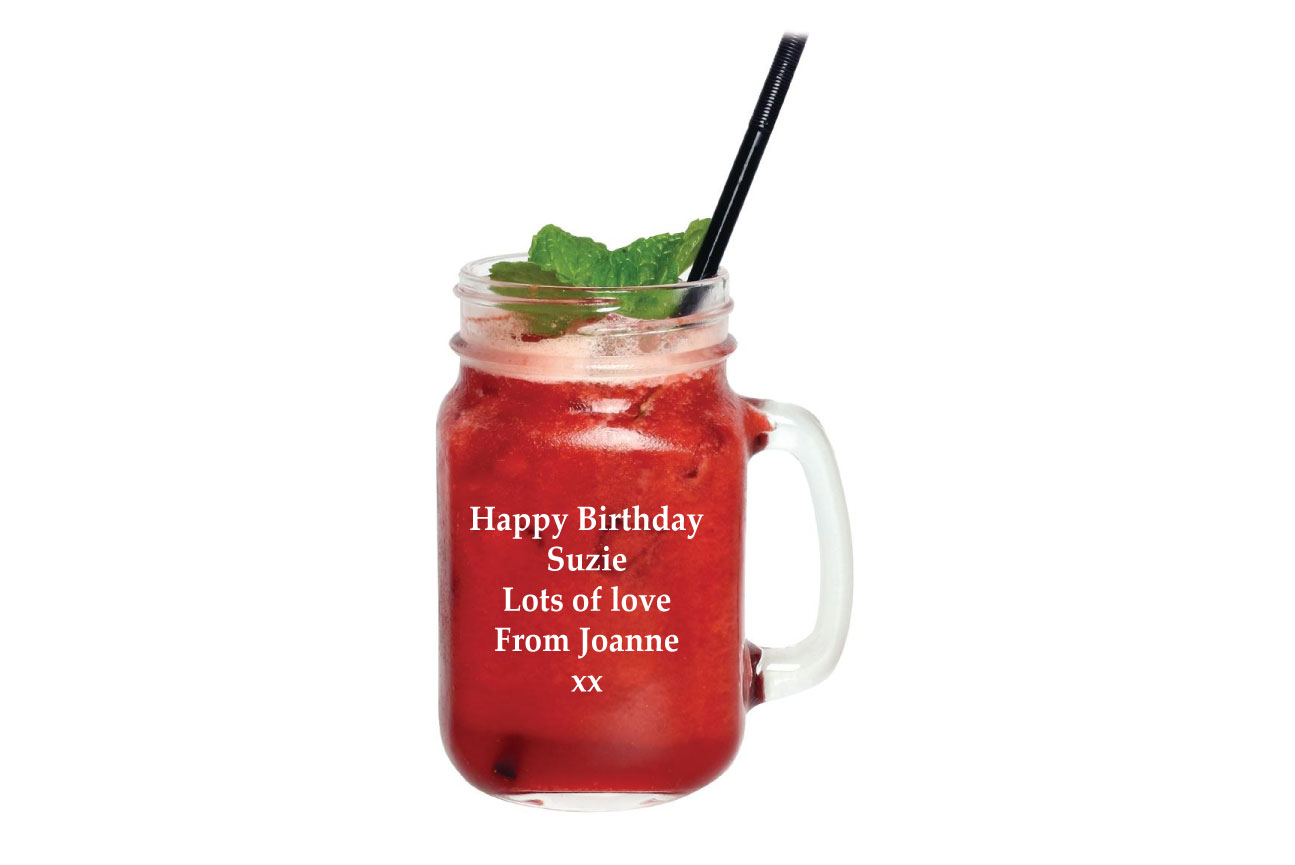 Personalised Jam Jar Cocktail Glass Image