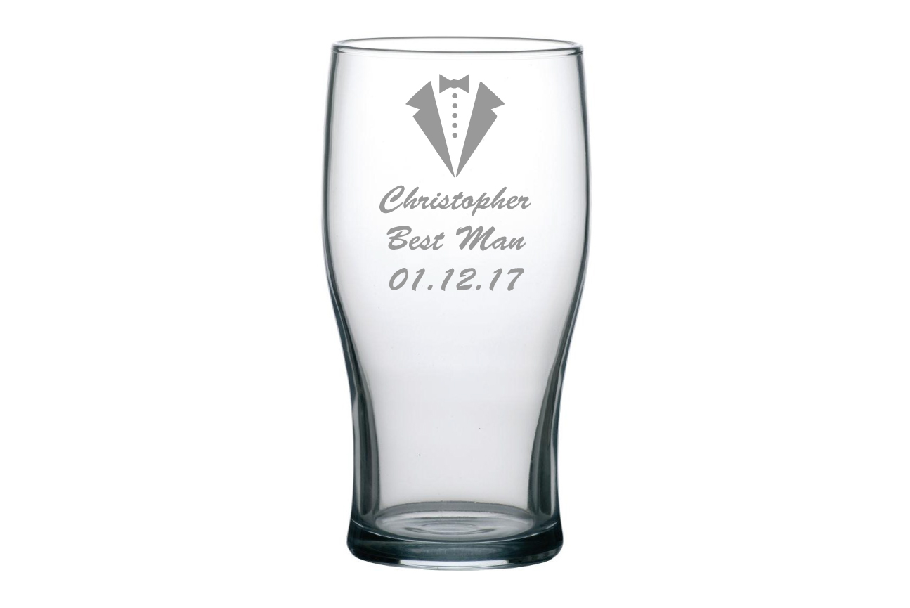 Best Man/Groomsman Pint Glass Image