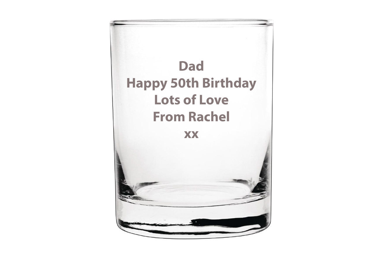 Personalised Whisky Glass Image