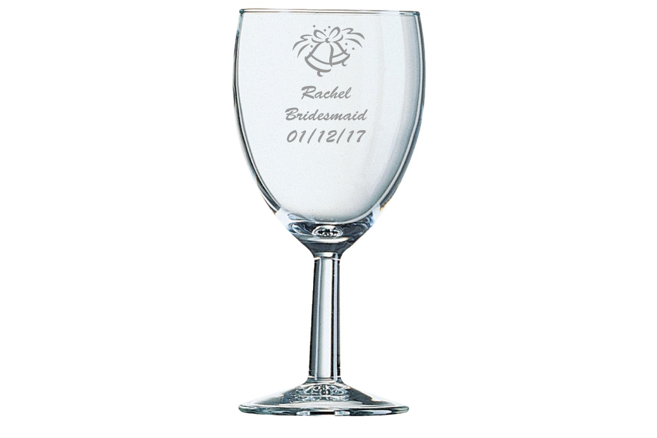 Wedding Bells Wine Glasses Image