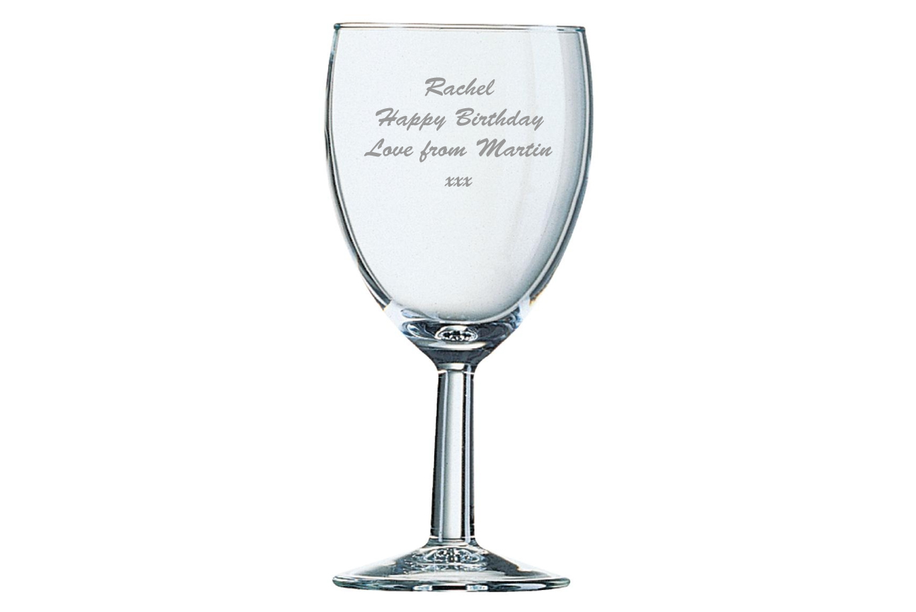 Personalised Wine Glass Image